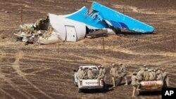 10月31號俄羅斯班機失事現場。