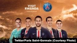 Kylian Mbappé, Neymar, Mauro Icardi mpe basani basusu bazali kokumisa tourisme (mibembo ya kotala) Rwanda, 4 décembre 2019. (Twitter/PSG)