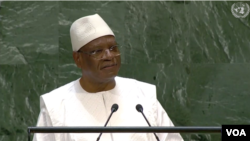 Ibrahim Boubacar Keita, président du Mali, le 25 septembre 2019.