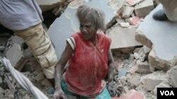 Una sobreviviente del devastador terremoto que asoló Haití.