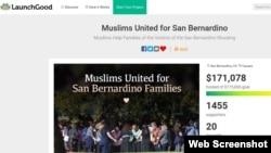 Situs LaunchGood, berhasil mengumpulkan hampir 175 ribu bagi para korban penembakan brutal di San Bernardino, California (Foto: screengrab).