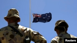在阿富汗赫尔曼德省澳大利亚士兵。(资料图片)