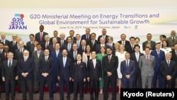 Участники встречи министров энергетики и окружающей среды G20, Каруидзава, Япония, 15 июня 2019 года