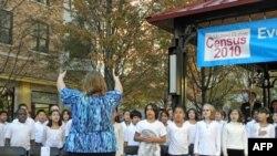小学生用歌声为美国人口普查造势