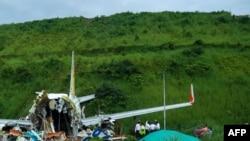 Avião da Air India Express partido em dois
