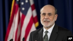 Federal Reserve Chairman Ben Bernanke speaks during a news conference on Sept. 13, 2012.