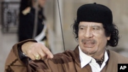 Moammar Gadhafi (file photo)