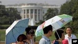 熱浪襲擊美國首都華盛頓。