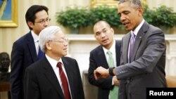 La visita del líder comunista vietnamimta, Nguyen Phu Trong, a la Casa Blanca, tiene lugar poco después del 40 aniversario del fin de la Guerra de Vietnam.