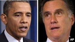 奧巴馬(左)羅姆尼(右)