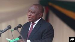 Omangele wele South African uMnu. Cyril Ramaphosa