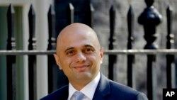 Menteri Dalam Negeri Inggris,Sajid Javid (Foto: dok).