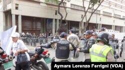 Policías y militares toman el Palacio de Justicia por juicio a Leopoldo López