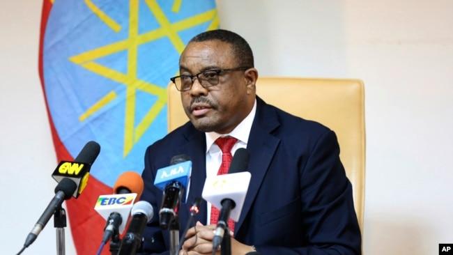 FILE - Former Ethiopian Prime Minister Hailemariam Desalegn.