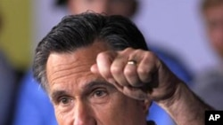 Tsohon gwamnan Massachusetts Mitt Romney, yake yakin neman zabe a jihar Ohio.