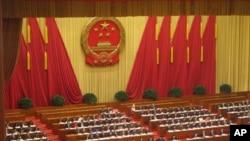 北京2012年全国人大会议主席台