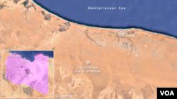 Airstrikes near Sirte, Libya