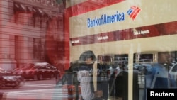 یک شعبه «بانک آو آمریکا» در شهر بوستون