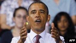 Tổng thống Barack Obama nói chuyện với các sinh viên về kế hoạch tạo việc làm tại Đại học Richmond, bang Virginia, Thứ Sáu, 9/9/2011