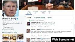 川普总统的推文(网页截图)