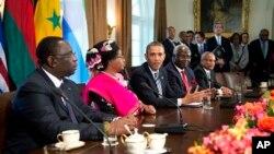 Predsednik Barak Obama sa afričkim liderima u Beloj kući