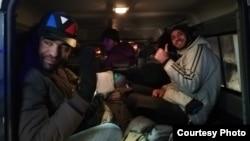 Spašeni migranti u vozilu FUCZ