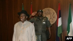 Nigeria's new acting president and commander in chief Goodluck Jonathan is pictured as he takes office in Abuja, 10 Feb 2010