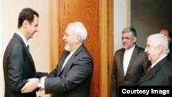 دیدار محمد جواد ظریف وزیر خارجه ایران و بشار اسد رئیس جمهوری سوریه در دمشق