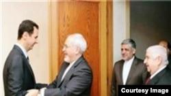 دیدار محمدجواد ظریف وزیر امور خارجه و بشار اسد رئیس جمهوری سوریه در دمشق - ۲۱ مرداد ۱۳۹۴