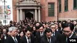 1600名香港法律界人士参与黑衣静默游行 (VOA 汤惠芸摄)