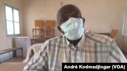 Montana Ndinaromtan, syndicaliste et technicien des laboratoires, au Tchad, le 8 mai 2020. (VOA/André Kodmadjingar).