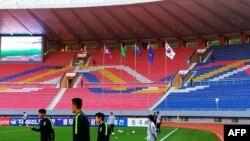 Trận bóng hôm 15/10/2019 giữa đội tuyển Triều Tiên và Hàn Quốc.