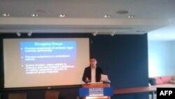 ქართველი მკვლევარი ალექსანდრე კუპატაძე ჯორჯ ვაშინგტონის უნივერსიტეტში გამართულ ბრიფინგზე