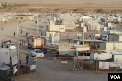 The Kurdistan Region of Iraq has 52 camps for refugees and displaced families, many depending on international aid on Sept. 28, 2017, taken in Hassan Sham, Kurdistan Region, Iraq. (H.Murdock/VOA)