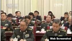 胡习出席军委扩大会议 刘源举止「另类」