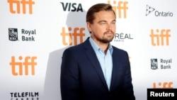 "Leonardo DiCaprio arrives on the red carpet for the film ""Before the Flood"" during the 41st Toronto International Film Festival (TIFF), in Toronto, Canada, Sept. 9, 2016."