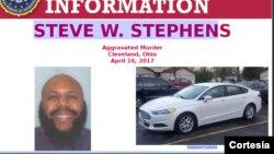 Steve Stephens es descrito como un hombre calvo con barba, de 1,80 m de altura y unas 240 libras de peso. Va vestido con una camiseta azul oscuro con gris y rayas negras. Al parecer conduce un Ford Fusion blanco.