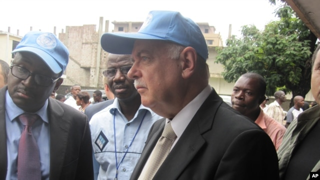FILE - Head of the U.N. mission in the DRC, Roger Meece, November 28 2011.