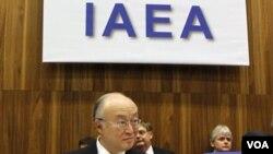 Yukiya Amano, Ketua IAEA asal Jepang, pada rapat IAEA di Vienna, Austria.