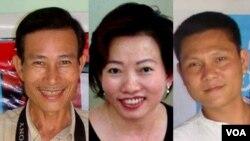 Ba thành viên Câu lạc bộ Nhà Báo Tự Do: Blogger Điếu Cày, Tạ Phong Tần, và AnhbaSaigon