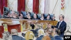 В зале заседаний Верховного суда США