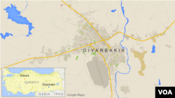 ແຜນທີ່ ເມືອງ Diyarbakir ຂອງເທີກີ