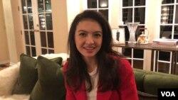 Aktris Indonesia Raline Shah saat bertemu dengan VOA Indonesia di Los Angeles (Dok: VOA)