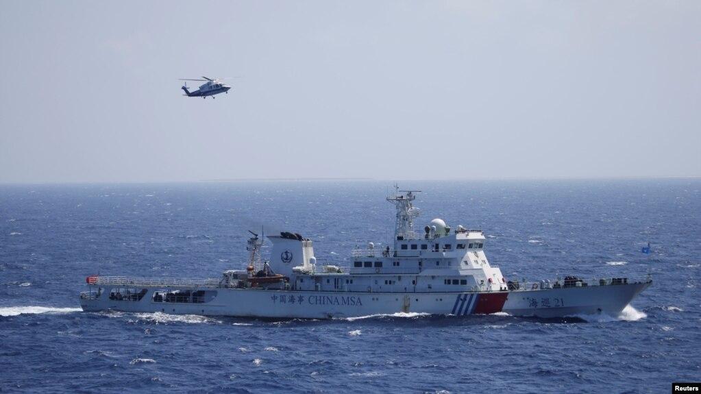 Trung Quốc tập trận ở khu vực quần đảo Hoàng Sa vào ngày 14/7/2016.