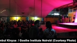 """A recent screening of the Sudanese movie """"Beats of the Antonov"""" organized by the Goethe Institute at a local venue in Nairobi, Kenya."""