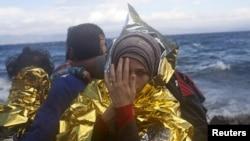 歐洲難民繼續冒生命危險坐船經地中海前往希臘。
