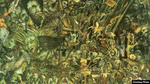艺术家刘大鸿的油画作品《鬼泣》(1989) (溯源书社图片)