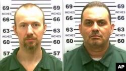 Foto dua napi yang kabur dari penjara Clinton, New York (foto: dok). Richard Matt (kanan) berhasil ditembak tewas, sementara David Sweat belum diketahui keberadaannya.