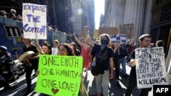 Акция движения «Захвати Уолл-стрит». Нью-Йорк. 8 октября 2011 г.