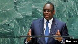 Le président du Sénégal Macky Sall, à la 74ème AG de l'ONU, New York, le 24 septembre 2019.